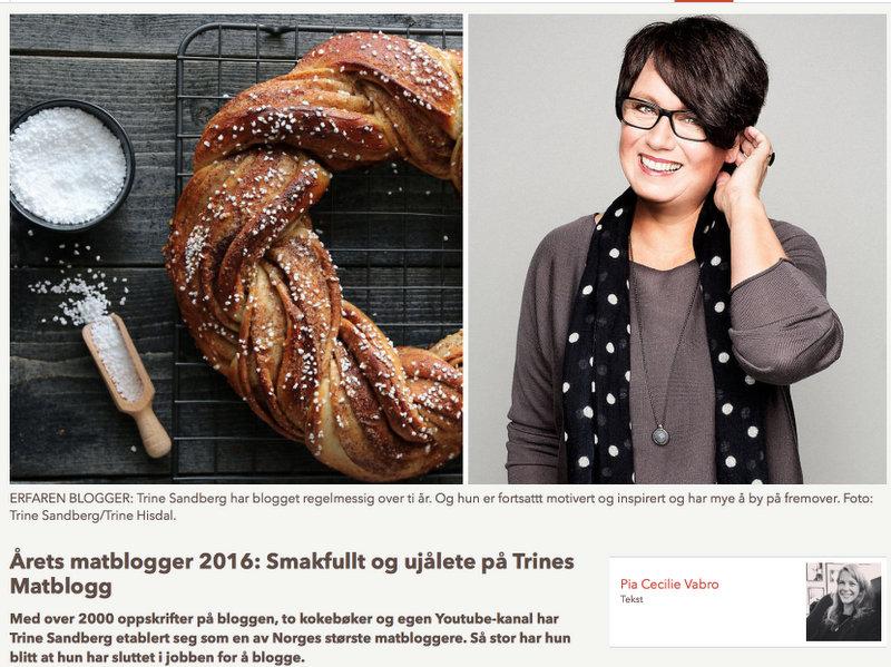 Nominert til Årets matblogger 2016
