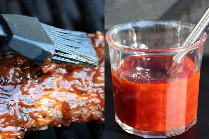 BBQ-saus med sennep og honning - på svinefilet