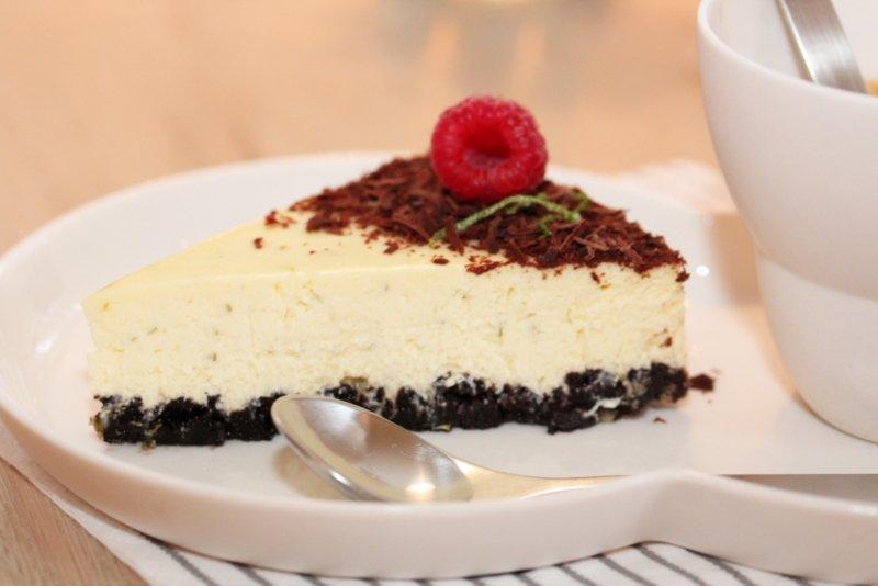 Ostekake med sjokolade og lime