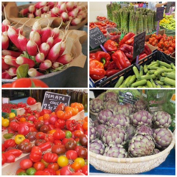 Markedet i Nice - salat Nicoise