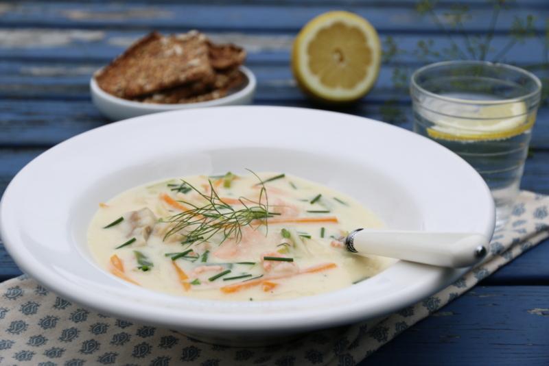 Kremet fiskesuppe med dill