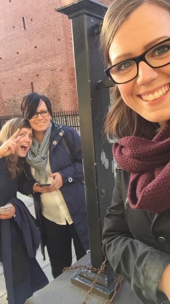 Trine, Anette og Emilie i Riga