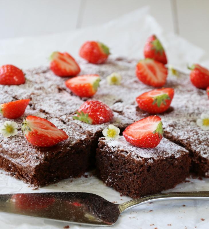 brownie sjokoladekake