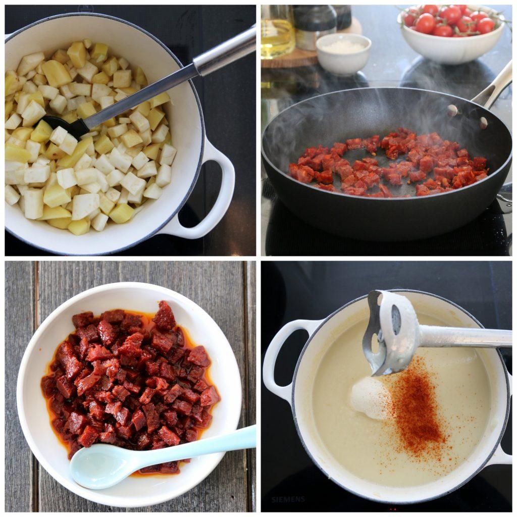 Sellerirotsuppe med chorizo