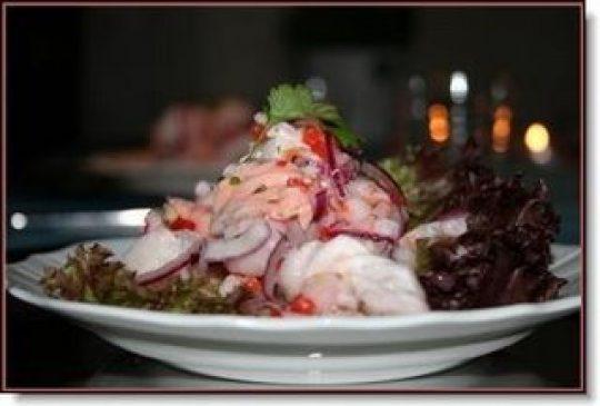 Image: Ceviche av torsk, laks og reker