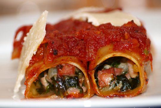 Image: Canneloni med spinat, pancetta og parmesan