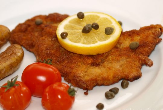 Image: Svineschnitzel med sitron og kapers