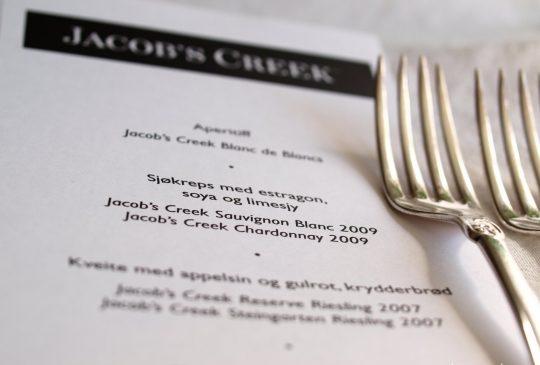 Image: Femretters middag på Oro og vinsmaking med Jacob's Creek