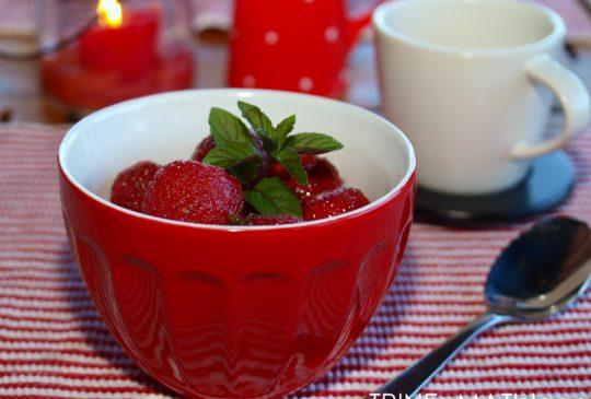 Image: Norske jordbær med limesukker