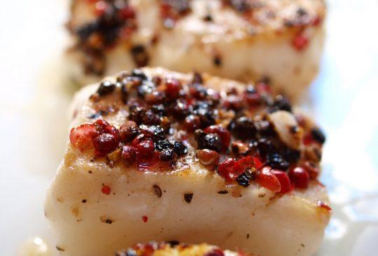 Image: Pepperstekt torsk med nudler, grønnsaker og soyasaus