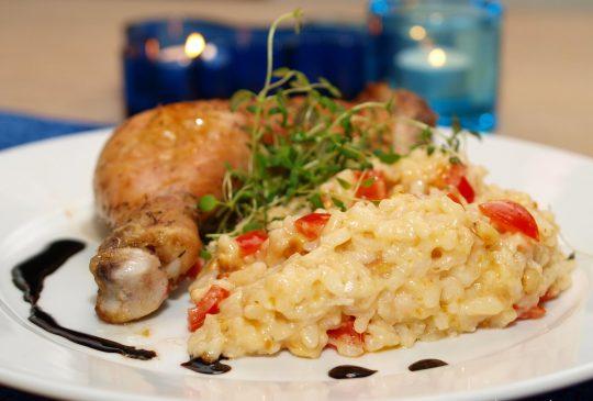 Image: Kyllinglår fra Stange med tomatrisotto
