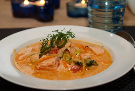 Image: Fyldig laksesuppe med dill