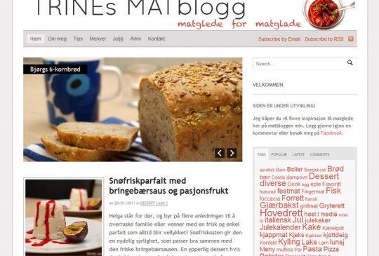 Image: Velkommen til TRINEs MATblogg!