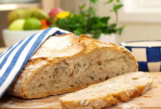 Image: Eltefritt halvgrovt brød med gresskarkjerner