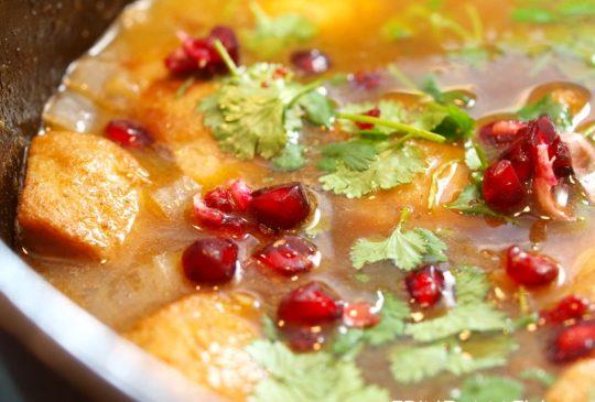 Image: Kylling- og aprikosgryte med granateple