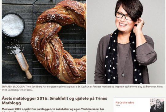 Image: STEM PÅ ÅRETS MATBLOGGER 2016!