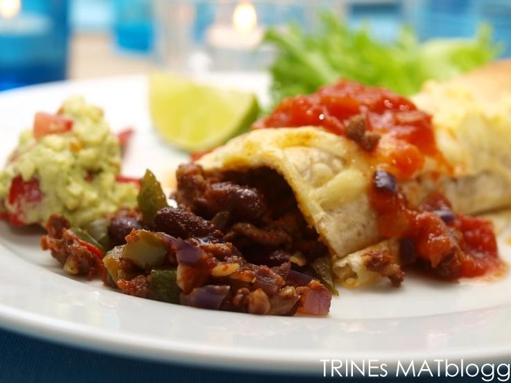 Kylling Burrito Trines Matblogg