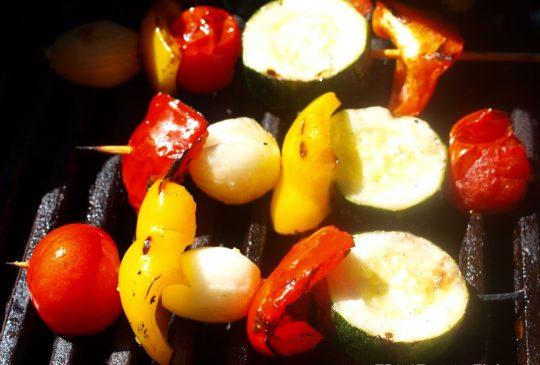 Image: Fargerike grillspyd