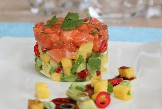 Image: Laksetartar med avokado- og mangosalsa