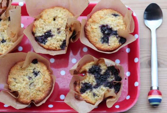 Image: Eplemuffins med blåbær