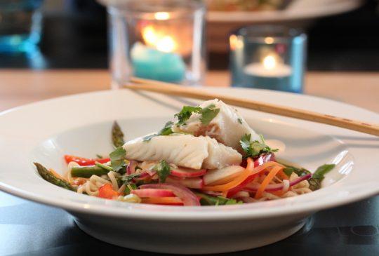 Image: Hot fiskesuppe med torsk og asiatiske smaker