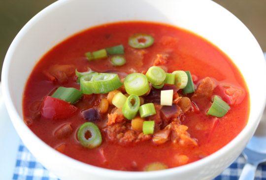 Image: Linsesuppe med chorizo og paprika