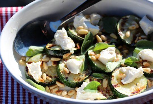 Image: Grillet squashsalat med feta