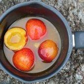 Image: Appelsinmarinerte nektariner med honningkrem