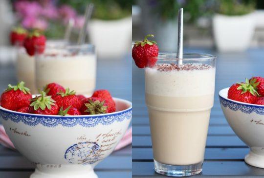 Image: Iskaffe latte og jordbær
