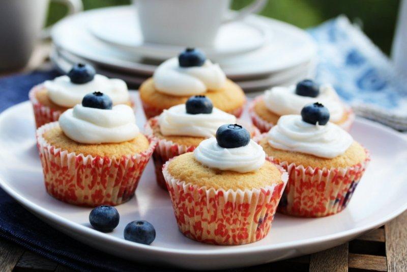 Blåbærmuffins med topping | TRINES MATBLOGG