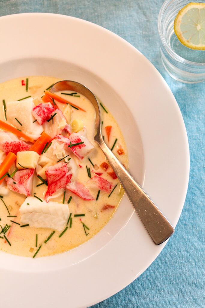 Fiskesuppe med torsk