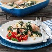 Image: Laks med kremet spinat og feta
