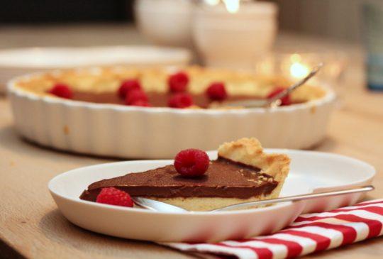 Image: Sjokolade- og chiliterte med bringebær