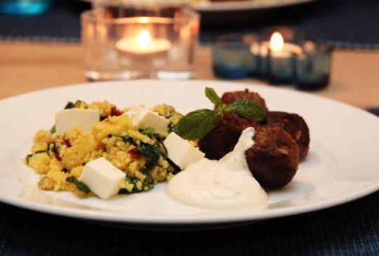 Image: Kjøttboller med sitronsaus og couscous
