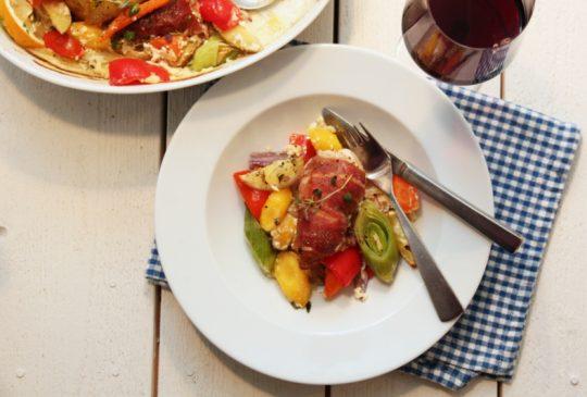 Image: Parmasurret kylling med grønnsaker og sitron