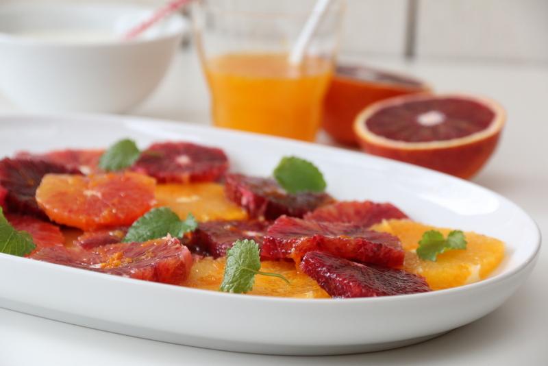 Appelsinsalat med honningkrem