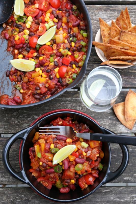 Vegetarisk bønnegryte med tortillachips TM2