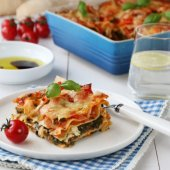 Image: VEGETARLASAGNE MED SPINAT OG FETA