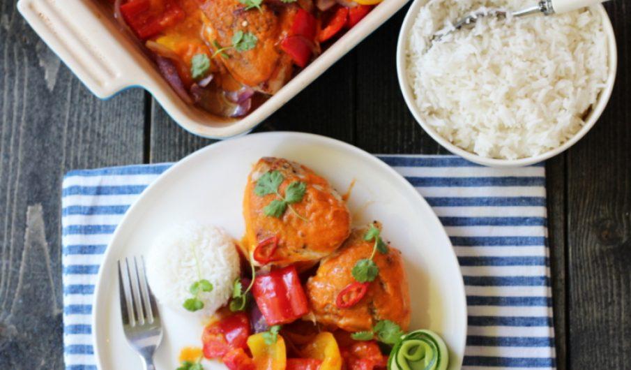 Kylling med hot mangosaus og paprika