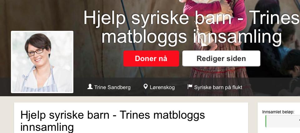 Trines matbloggs insamling