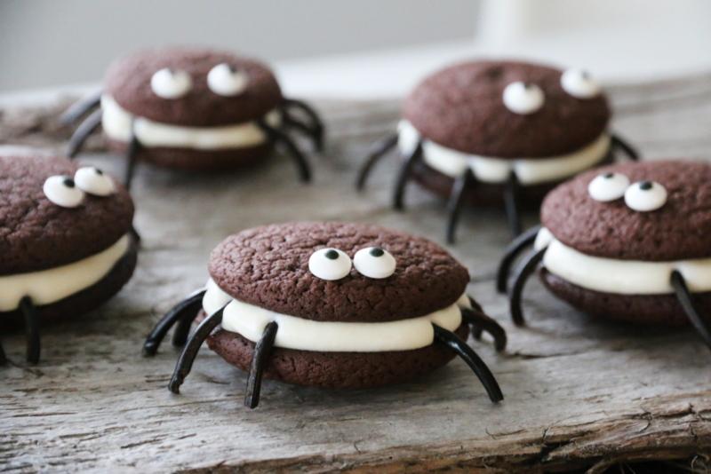 Edderkoppkjeks til Halloween