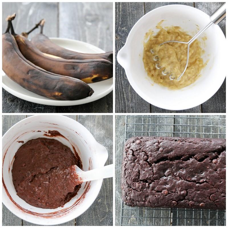1-Banan- og sjokoladekake