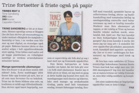 Image: Omtale av Trines mat 2 i Mat fra Norge