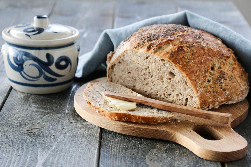 Eltefritt fullkornsbrød med chiafrø