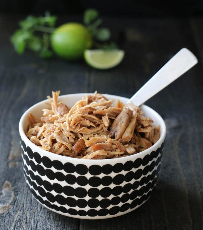 Pulled chicken med coleslaw