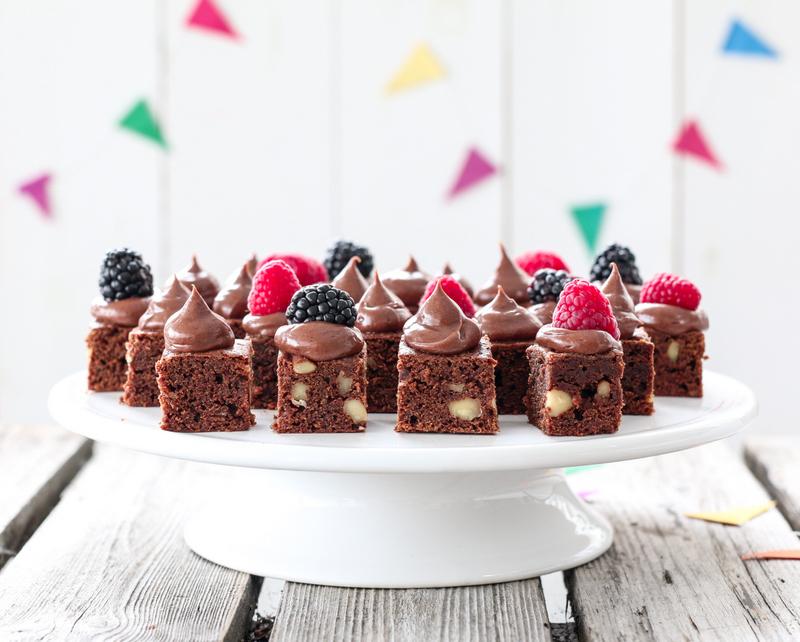 Brownie med sjokoladekrem