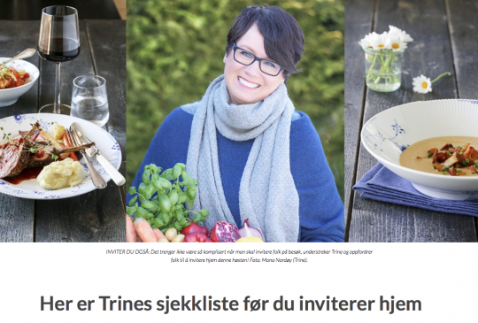 Image: FORLAGSLIV: HER ER TRINES SJEKKLISTE FØR DU INVITERER HJEM