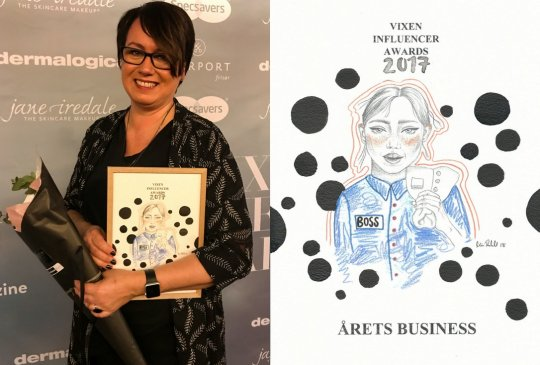 Image: ÅRETS BUSINESS – VIXEN INFLUENCER AWARDS 2017