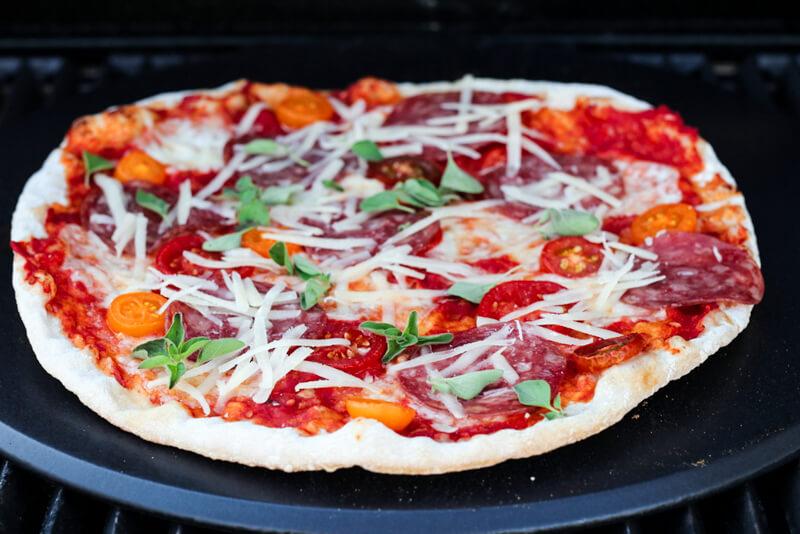 Pizza på grillen