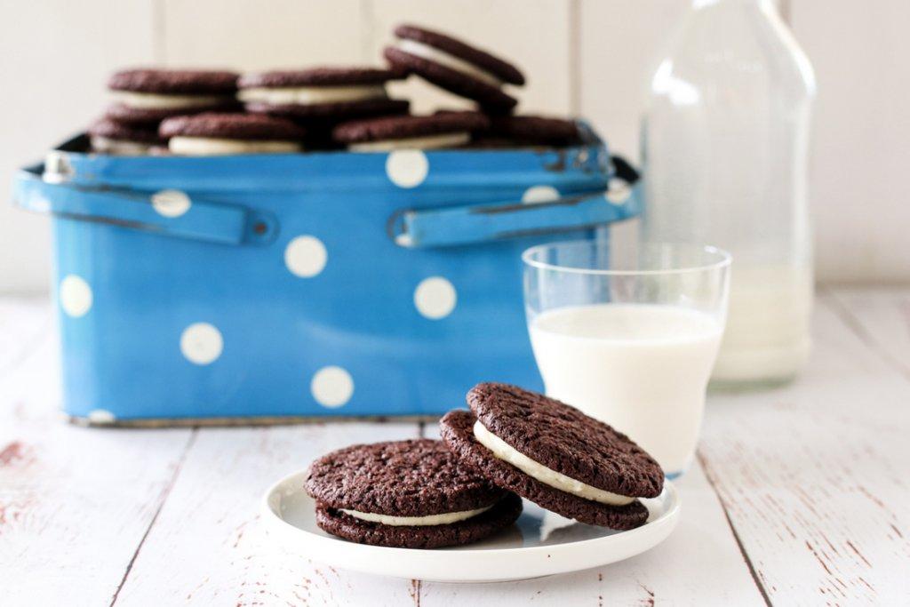 Oreocookies - sjokoladekjeks med vaniljekrem